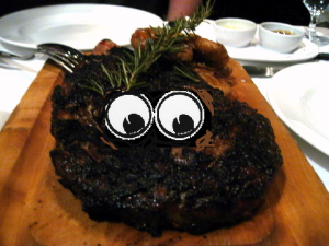 meat with eyes