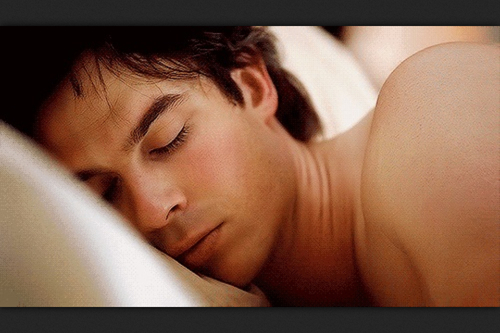 sleeping damon yum