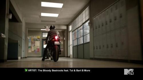 riding around school